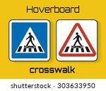 set of hoverboard crosswalk... | Shutterstock .eps vector #303633950