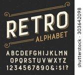 retro alphabet font. serif type ... | Shutterstock .eps vector #303642098