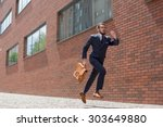 young businessman with a... | Shutterstock . vector #303649880