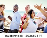 friends friendship party...   Shutterstock . vector #303653549