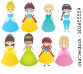 vector collection of pretty...   Shutterstock .eps vector #303655559
