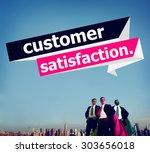 customer satisfaction service... | Shutterstock . vector #303656018