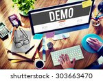 demo preview trailer trial... | Shutterstock . vector #303663470