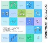 soft skills vector linear icons ... | Shutterstock .eps vector #303669023