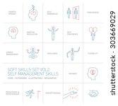self management soft skills... | Shutterstock .eps vector #303669029