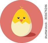 flat design icon chicken... | Shutterstock .eps vector #303674246