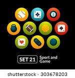 flat icons set 21   sport and...
