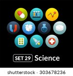 flat icons set 29   science and ...