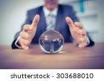 businessman forecasting a... | Shutterstock . vector #303688010
