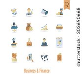 business and finance  flat icon ... | Shutterstock .eps vector #303690668