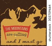 35themountains vintage retro t ... | Shutterstock .eps vector #303709664