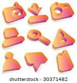 icons for media content... | Shutterstock .eps vector #30371482