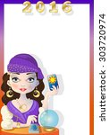 fortuneteller with space to... | Shutterstock .eps vector #303720974