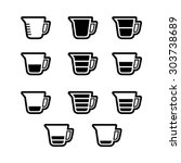 measuring cup icon set | Shutterstock .eps vector #303738689