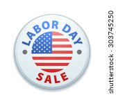 labor day sale button | Shutterstock .eps vector #303745250