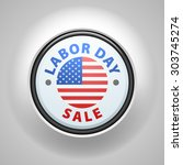 labor day sale button | Shutterstock .eps vector #303745274
