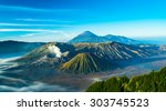 Mount Bromo Volcano During...