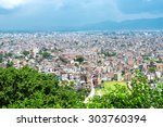 katmandu cityscape  the capital ... | Shutterstock . vector #303760394