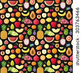 Big Fruits Seamless Vector...