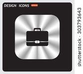 briefcase icon. flat design...   Shutterstock .eps vector #303793643