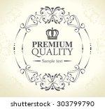 frame card design  vector... | Shutterstock .eps vector #303799790