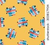 transportation police car flat... | Shutterstock . vector #303817934