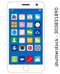 smart phone vector | Shutterstock .eps vector #303831890