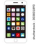 smart phone vector   Shutterstock .eps vector #303831893