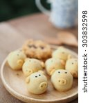 Small photo of pineapple cookies with pic face