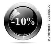 10 percent discount icon.... | Shutterstock .eps vector #303850100
