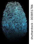 fingerprint vector illustration | Shutterstock .eps vector #303851786