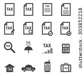 tax icon set | Shutterstock .eps vector #303852218