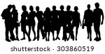 vector silhouette of a group of ... | Shutterstock .eps vector #303860519