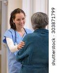 smiling female doctor... | Shutterstock . vector #303871799