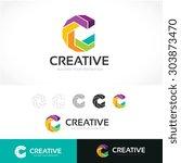 c letter  creative logo design... | Shutterstock .eps vector #303873470