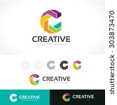 c logo creative logo design... | Shutterstock .eps vector #303873470