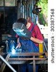 factory welder | Shutterstock . vector #30387568