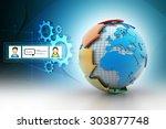 globe around with arrow | Shutterstock . vector #303877748