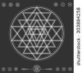 set of geometric shapes. trendy ... | Shutterstock .eps vector #303884258