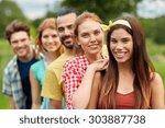 friendship  leisure  summer and ... | Shutterstock . vector #303887738