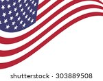 vector background of american... | Shutterstock .eps vector #303889508