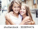 a group of child in urban street | Shutterstock . vector #303894476