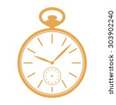 golden pocket watch icon... | Shutterstock .eps vector #303902240