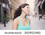 a portrait of attractive woman... | Shutterstock . vector #303902480