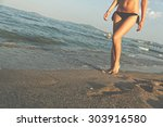 walk on the beach   young...   Shutterstock . vector #303916580