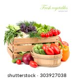 fresh ripe vegetables in a... | Shutterstock . vector #303927038