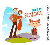 back to school poster....   Shutterstock .eps vector #303937454