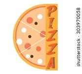 pizza label  logo for pizzeria   Shutterstock .eps vector #303970058