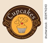 logo for confectionery  bakery. ... | Shutterstock .eps vector #303974243