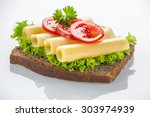 Canape With Yellow Cheese